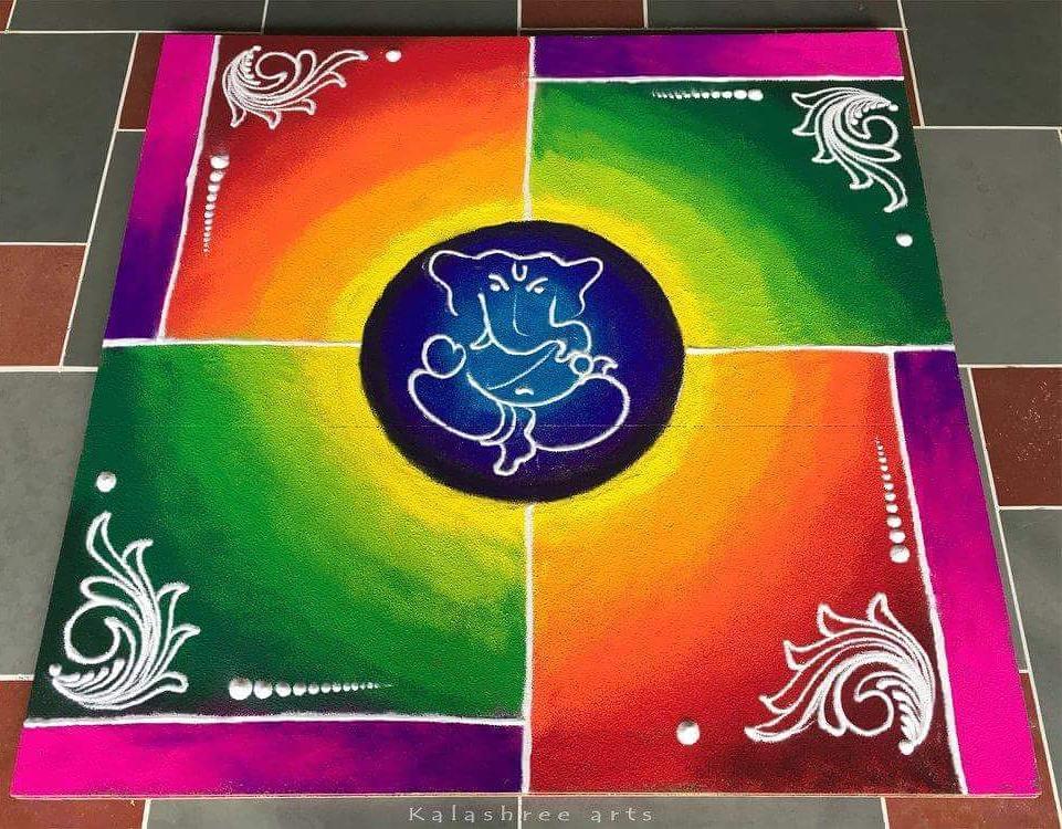 Simple Rangoli Designs For Diwali 14