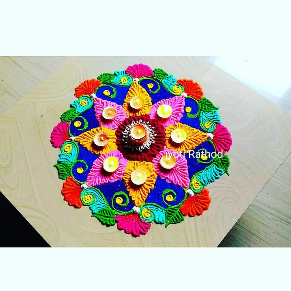 Simple Rangoli Designs For Diwali 13