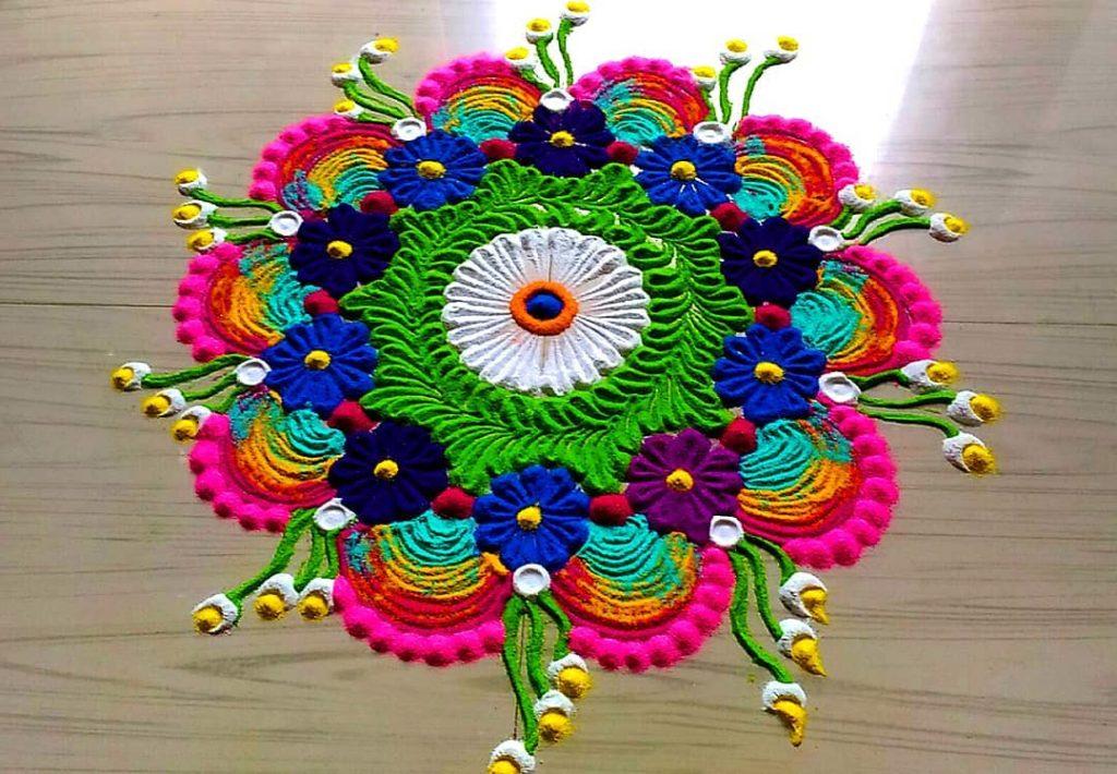 Simple Rangoli Designs For Diwali 9