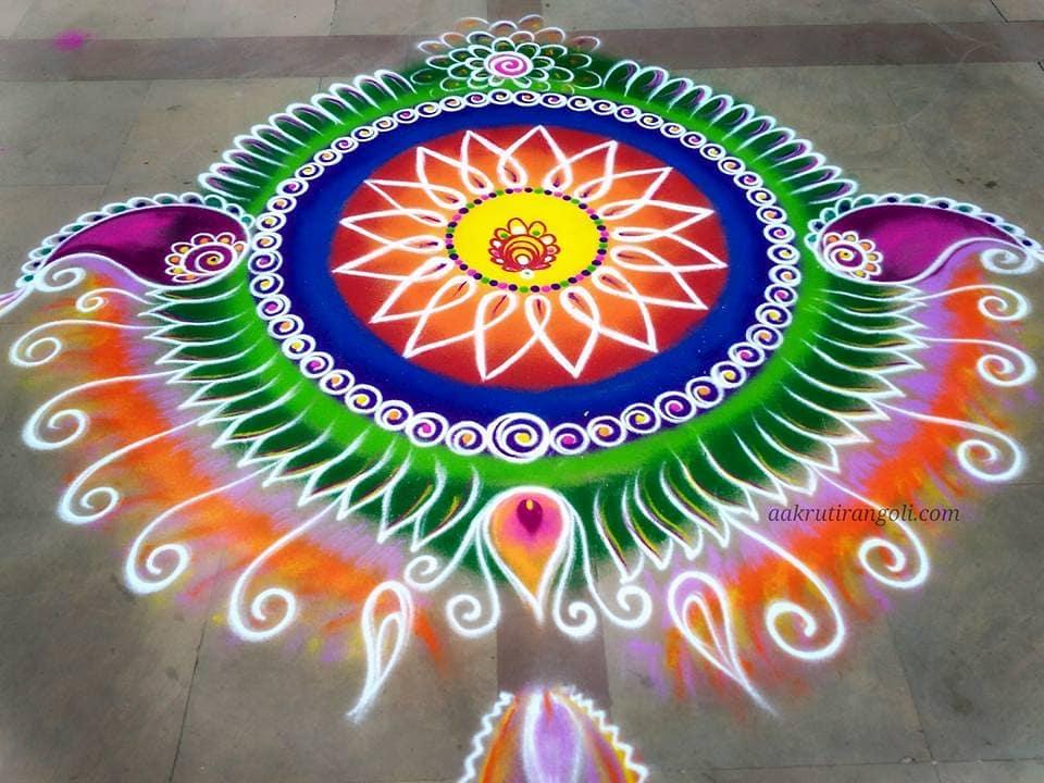 Simple Rangoli Designs For Diwali 4