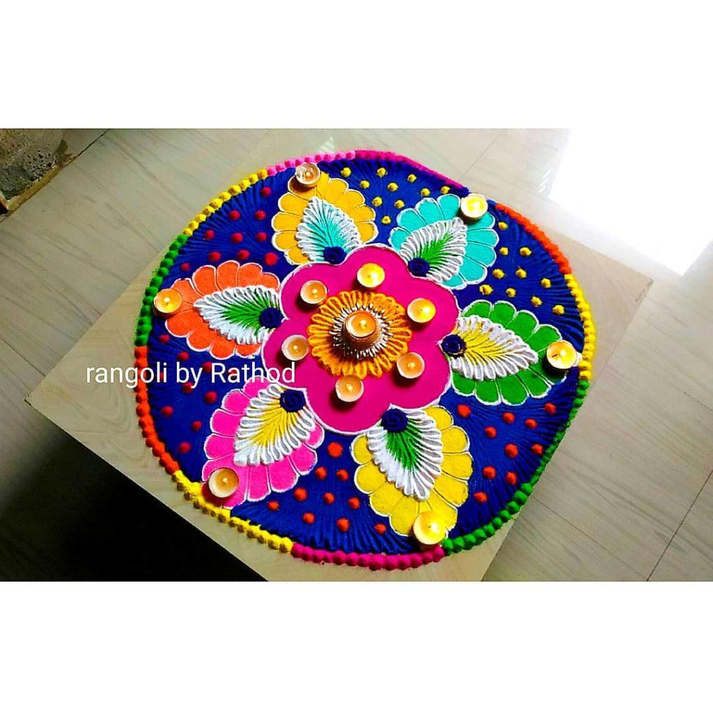 Simple Rangoli Designs For Diwali 12