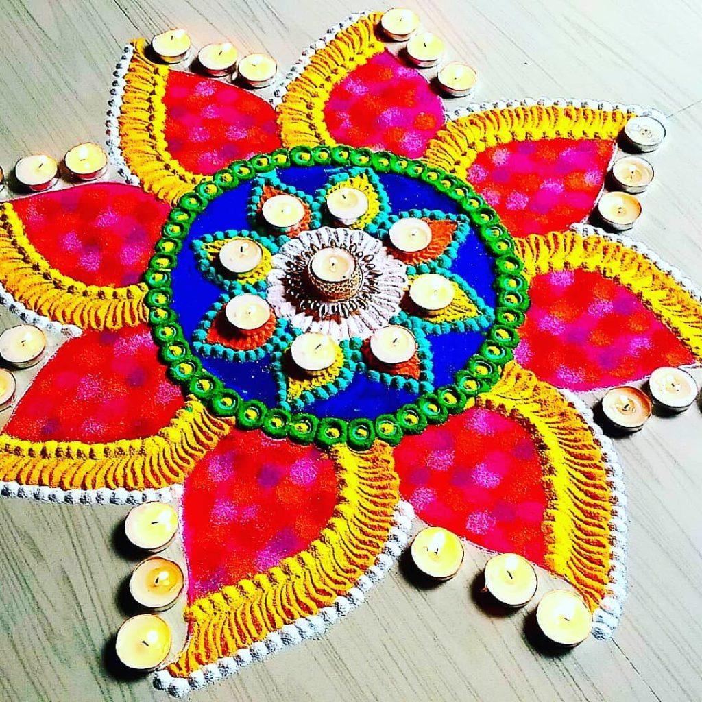 Simple Rangoli Designs For Diwali 8