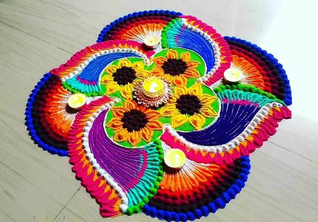 Simple Rangoli Designs For Diwali 10